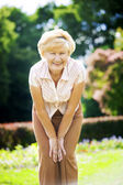 Vitality. Independent Gracious Old Woman Granny having Fun — Stock Photo