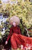 Creative Peruke. Fashionable Stylish Woman with Glamorous Hairstyle — Stock Photo