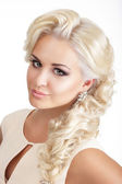 Portrait of Young Glamorous Blond with Tress — Stock Photo
