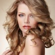 Sophisticated Woman with Perfect Skin and Flowing Blond Healthy Hair — Stock Photo #49209217