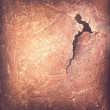 Crack at rusty metal sheet - Stock Photo