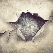 Hole at chipping paint — Stock Photo