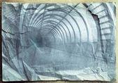 Blauwe tunnel — Stockfoto