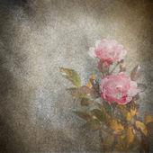 Rose flowers grunge illustration — Stock Photo