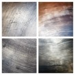 Set of scratched grunge metal textures — Stock Photo #8874791