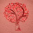 Tree in hearts — Stock Photo