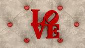 Hearts and inscription — Stock Photo