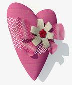 Pink heart — Stock Photo