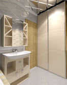 Interior of bath-room — Stock Photo