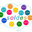 Soldes colorful tags - Stock Photo