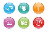 Bunte symbole für das web — Stockfoto