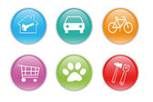 Barevné ikony pro web — Stock fotografie