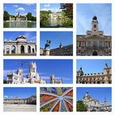 Collage of Madrid — Stock Photo