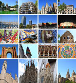 Collage of Barcelona — Stock Photo