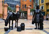 Trascorrales square, Oviedo — Stock Photo