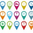 Icons for markers on maps - Stock Photo