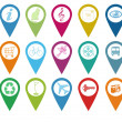 Icons for markers on maps — Stock Photo