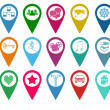 Stock Photo: Icons for markers on maps