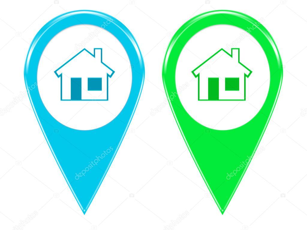 Mapa Con Un Puntero Ubicación: Iconos Para Los Marcadores En Los Mapas