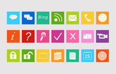 Set of icons for the Web — 图库照片