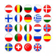 European flag icons — Stock Photo