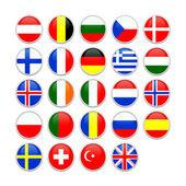 European flag icons — Stock Photo