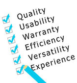Survey on quality, experience,... — Stock Photo