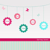 Label for Spring Sales — Stock Photo