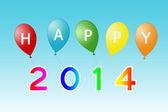 Happy Year 2014 card — Stock Photo