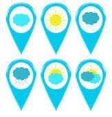 Icone di meteorologia per meteo — Foto Stock