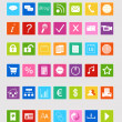 Set of icons for website — Stock Photo