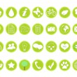Stock Photo: Icons on ecology and environment