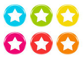 Colorful icons with stars — Stock Photo