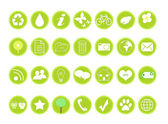 Icons on ecology and environment — Stock Photo