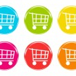 Stock Photo: Shopping cart icons