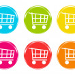 Royalty-Free Stock Photo: Shopping cart icons