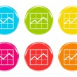 Stock Photo: Icons of statistics graphic