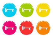 Ikoner med nycklar i vissa färger — Stockfoto