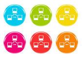 Iconos de una red en algunos colores — Foto de Stock