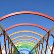 Colorful bridge in Aviles — Stock Photo