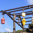Colorful buoys hanging — Stock Photo