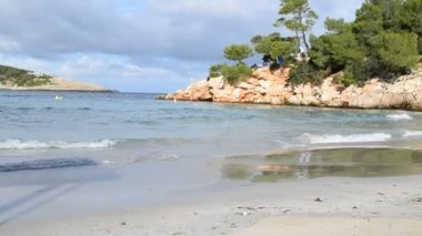 Portinatx beach in Ibiza, Spain — Stock Video
