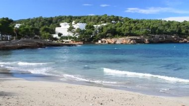 Portinatx beach in Ibiza, Spain — Stok video