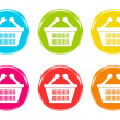 Stock Photo: Icons with shopping baskets