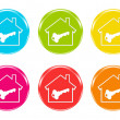 Stock Photo: Colorful icons with house symbol