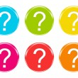 Stock Photo: Colorful icons with question mark