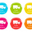 Stock Photo: Free Delivery icons