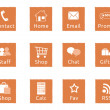 Orange web icons — Stock Photo