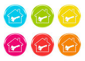 Colorful icons with a house symbol — Stock Photo