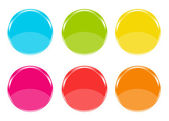 Colorful icons with circles form — Stock Photo